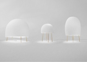 Jellyfish paper light by Nendo and Luca Nichetto