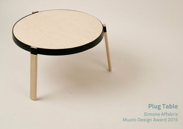 Plug table by Simone Affabris