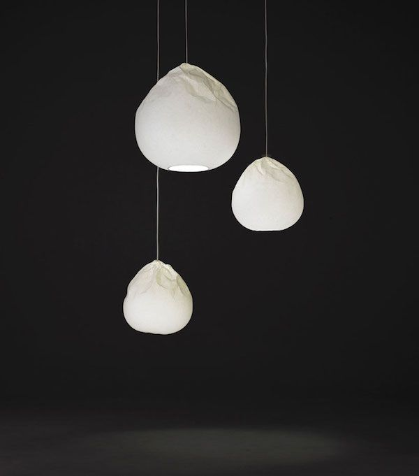 Semi-washi paper light by Nendo design studio
