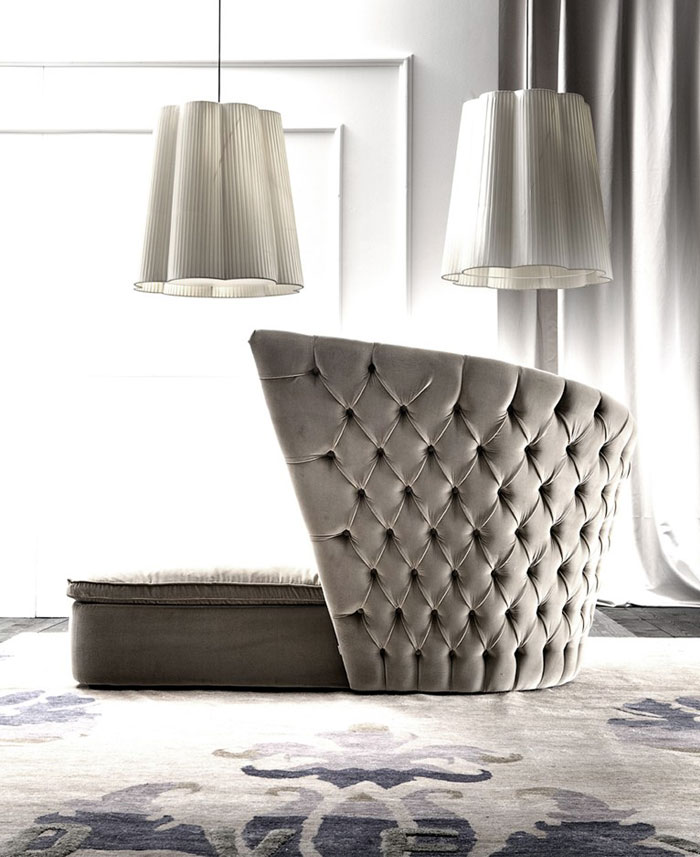 Upholstered Day Bed by Giorgio Soressi