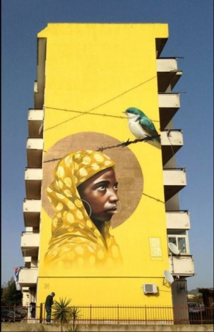 Walls for migrants, street artists tell the drama