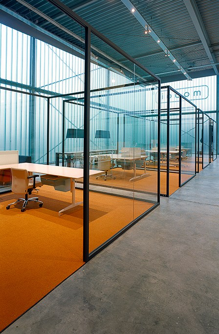 Glass Office Partition Strijkers Partition System By Lensvelt Design On Inspirationde