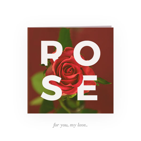 Rose for you, my love.