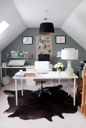 Home office under the roof by MARIANNE SIX