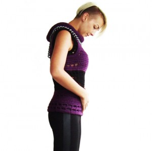Deep purple tube neck vest on SALE