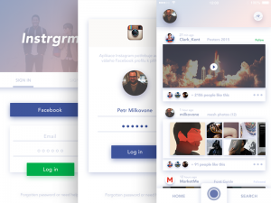 iOS redesign of instagram, first proposal called Instgrm2, because I have on my mind some improv ...
