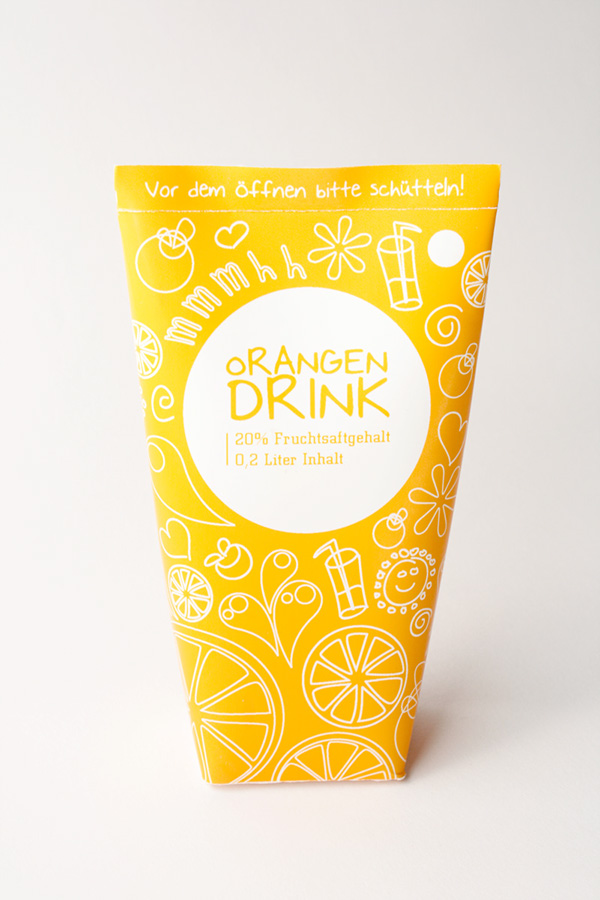 Orangen Drink Packaging
