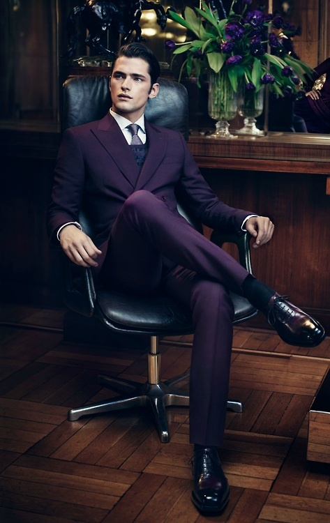 A luxurious and elegant purple suit for the men folk