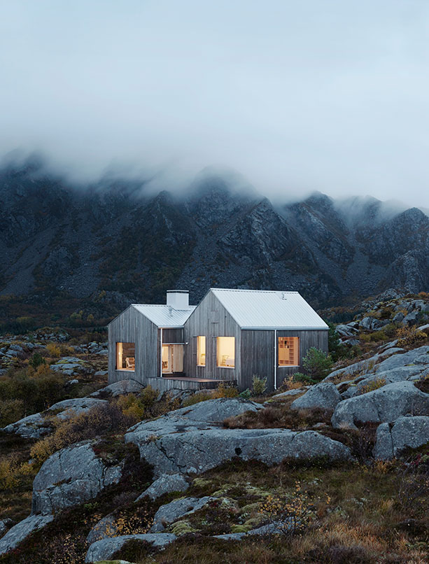 The house on the northern Norwegian island of Vega is designed by Kolman x Boye