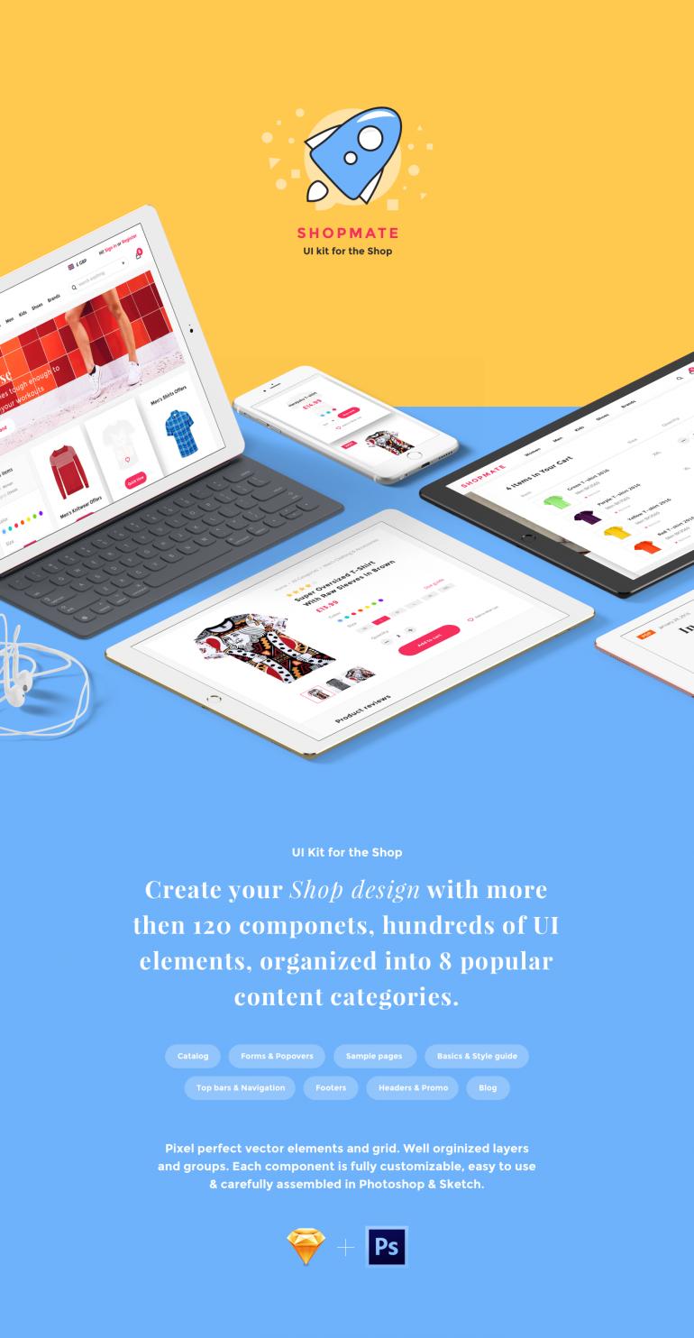 Shopmate – UI Kit for the Shop