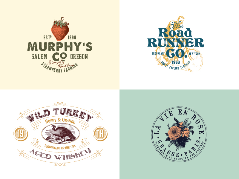 32 Vintage Logo Templates (Vol. 2)