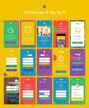Weeny iOS UI Kit – 50+ HQ Screens