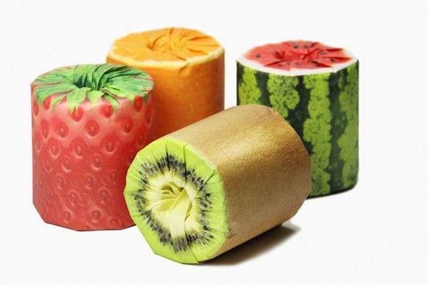 Creative fruit toilet paper by Kazuaki Kawahara
