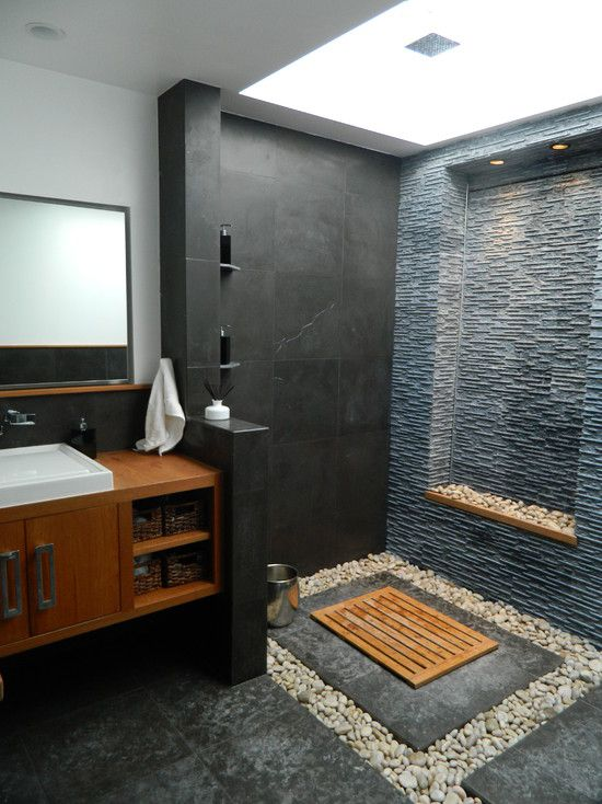 Balinese modern bathroom _ Gerson Residence
