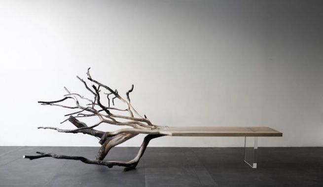 Fallen Tree Bench by Benjamin Graindorge