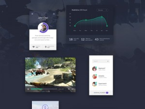 This is a free and useful game ui kit that contains 6 elements: a login screen, a video player,  ...