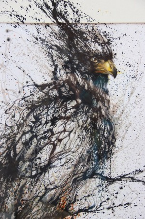 The splattered ink effect by Hua Tunan in China