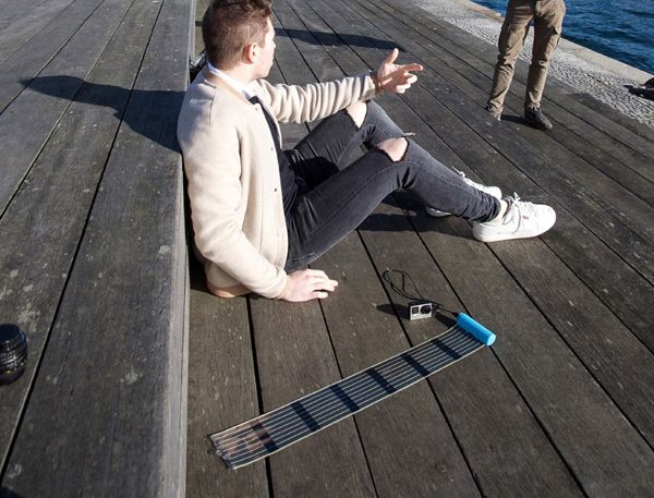 Heli-on solar battery by InfinityPV