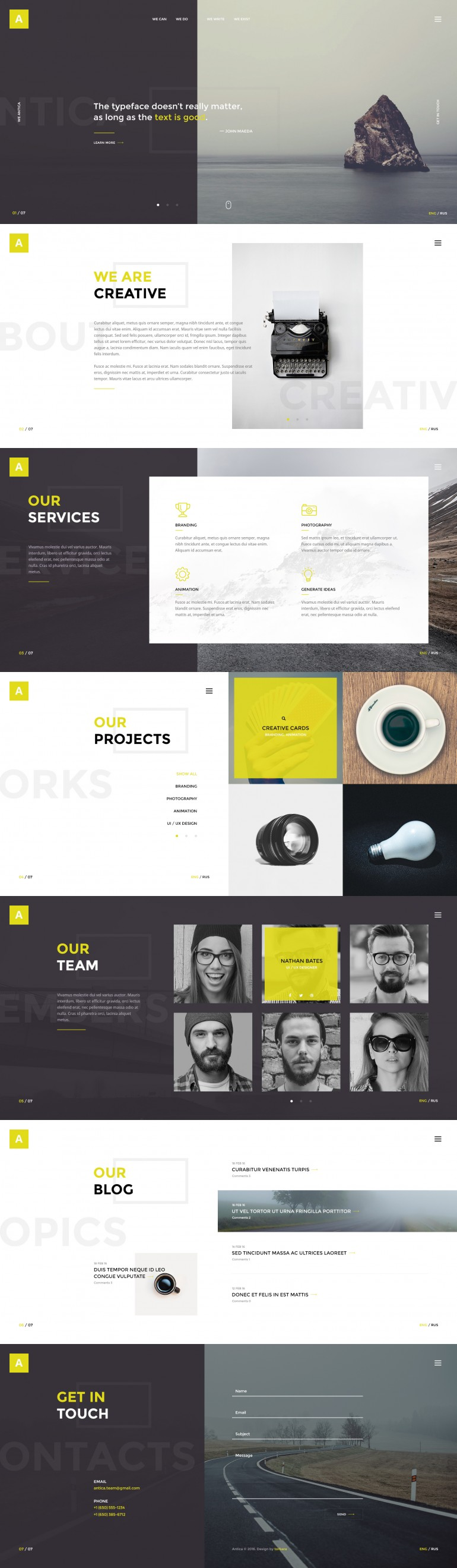 Antica — Multipurpose Business Agency/Personal Portfolio
