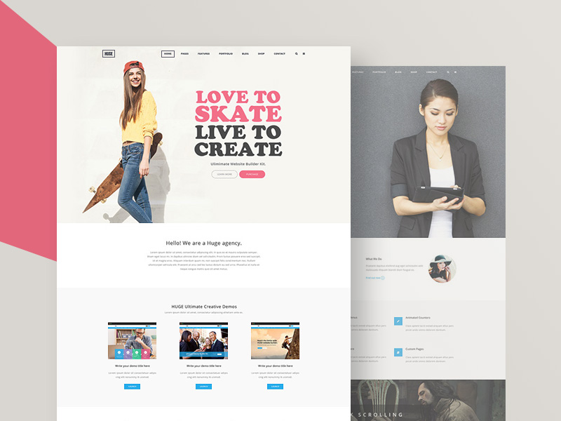 HUGE Website Samples