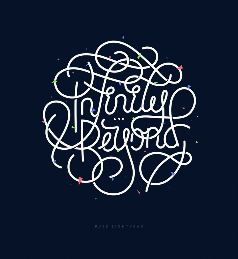 To Infinity and Beyond – lettering by Pete White