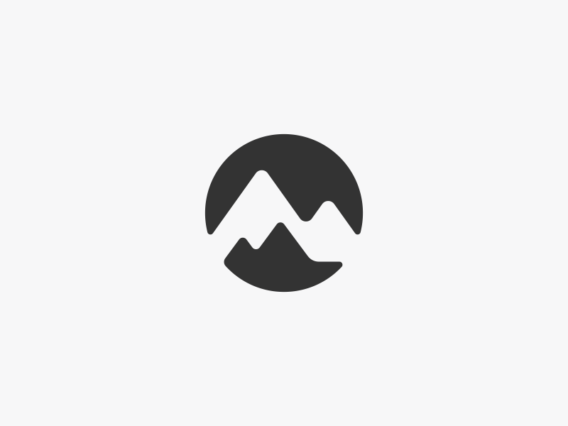 Mountain Range Logo Design by Dalius Stuoka