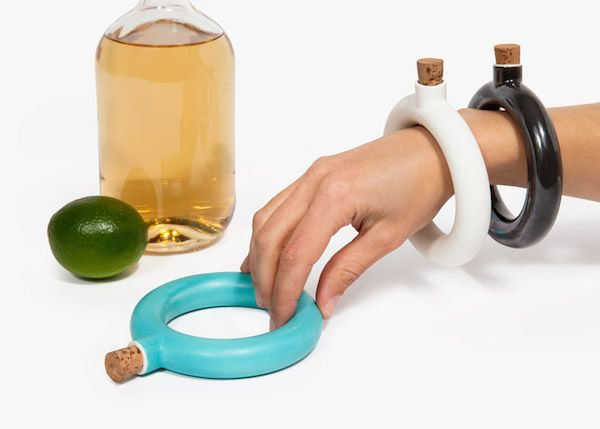 Object ang Totem bracelet flask by Brooklyn ceramics studio
