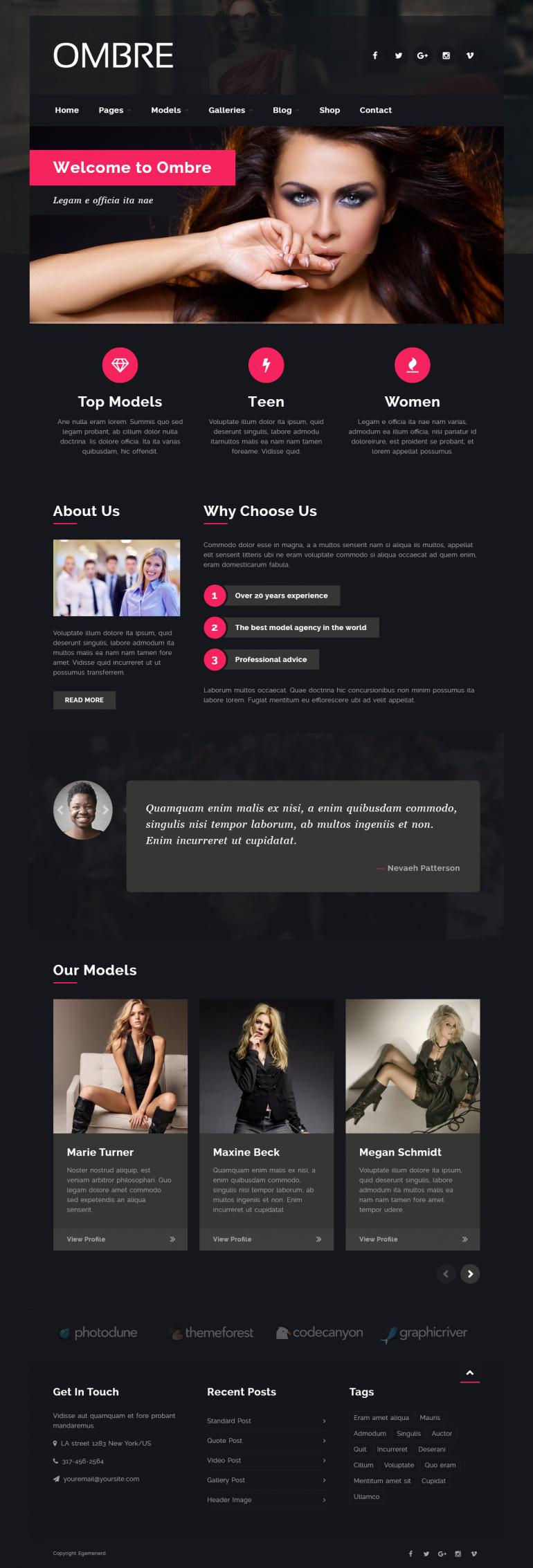 OMBRE – Model Agency