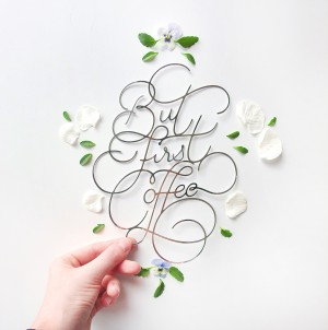 Paper Lettering – But First Coffee