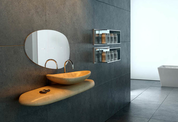 RIVER STONE washbasin by Dsignio