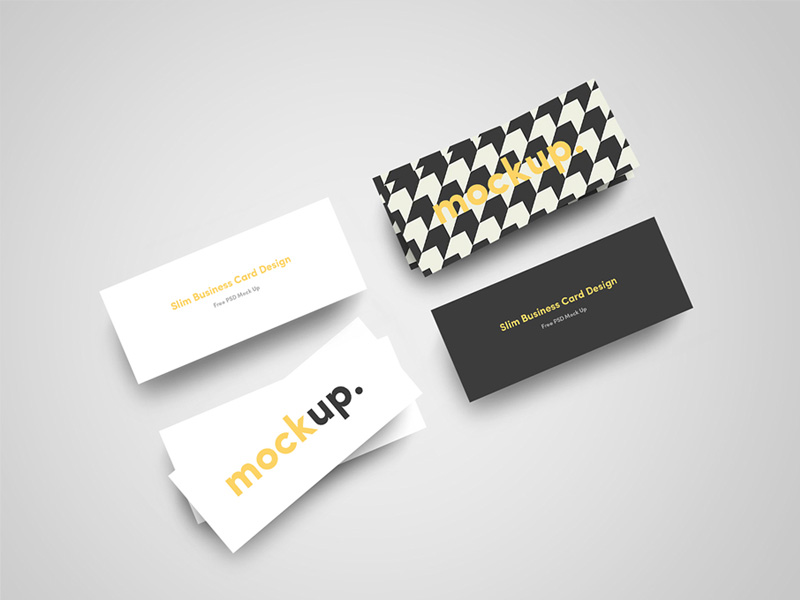 A free psd template file that allows you to create photorealistic mockups of your business card  ...
