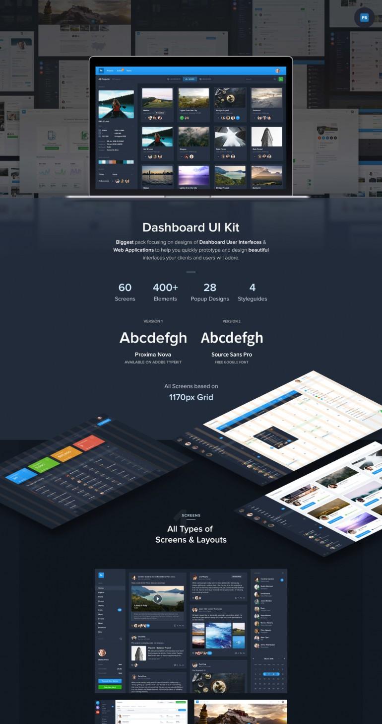 Dashboard 60 UI Kit