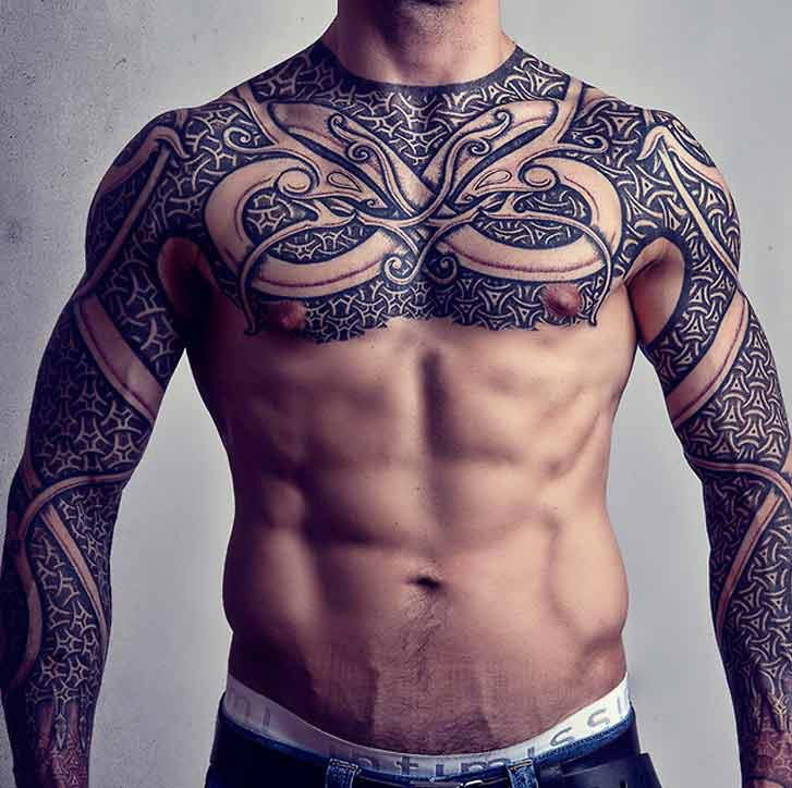 Viking Armor Cultural Tattoo