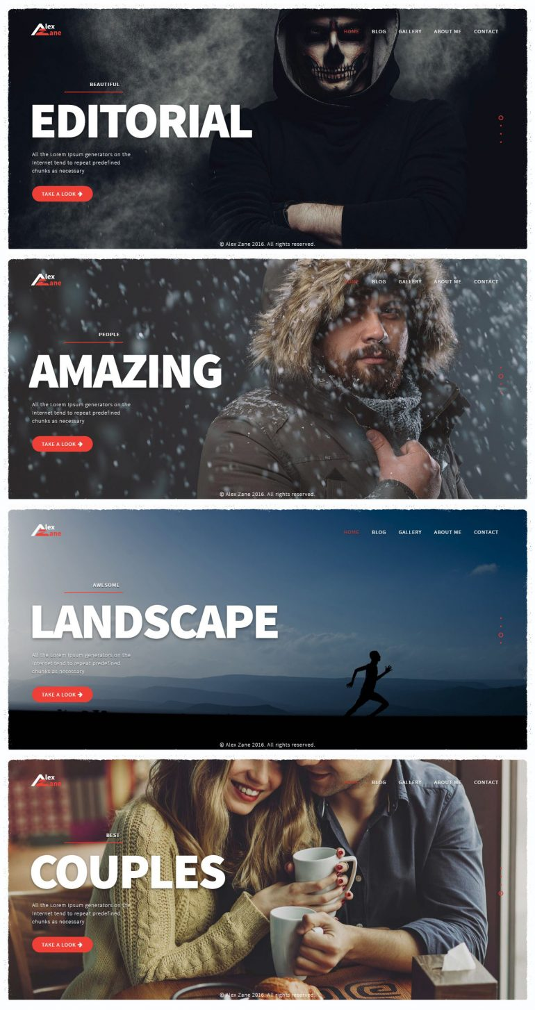 Alex Zane – Clean Portfolio WordPress Theme