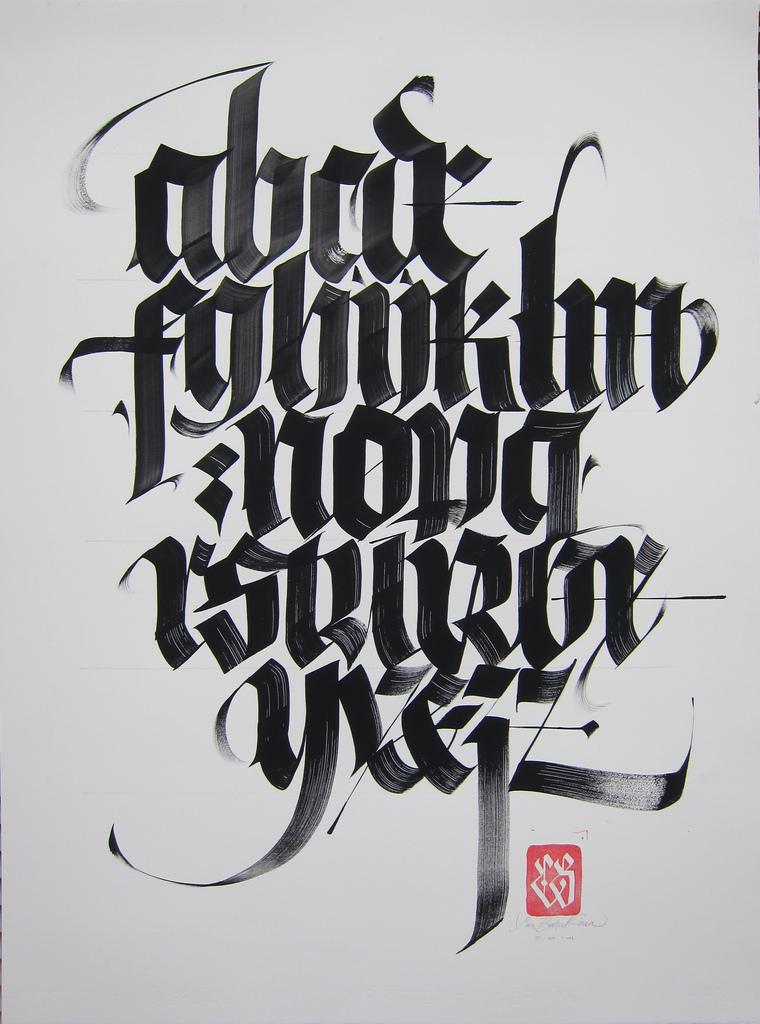 Blackletter alphabet