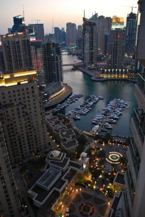 View from our Balcony – Marina, Dubai