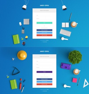 Amonowa PSD Template