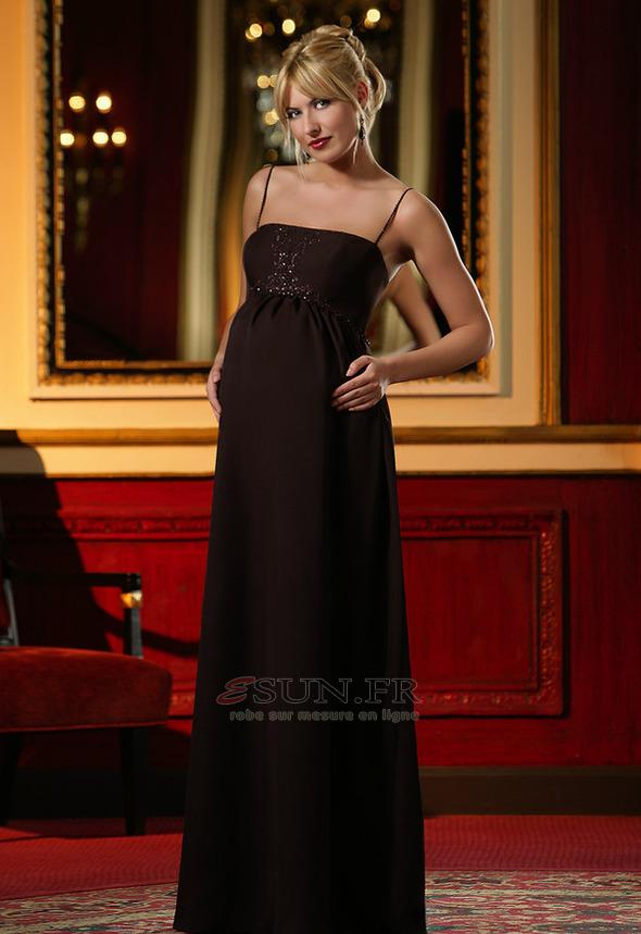 robe de soir e grossesse long chic on inspirationde. Black Bedroom Furniture Sets. Home Design Ideas