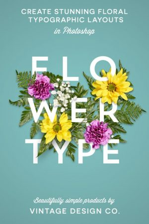 Flower Type for Illustrator