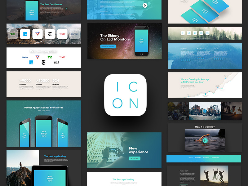UI kit for landing pages