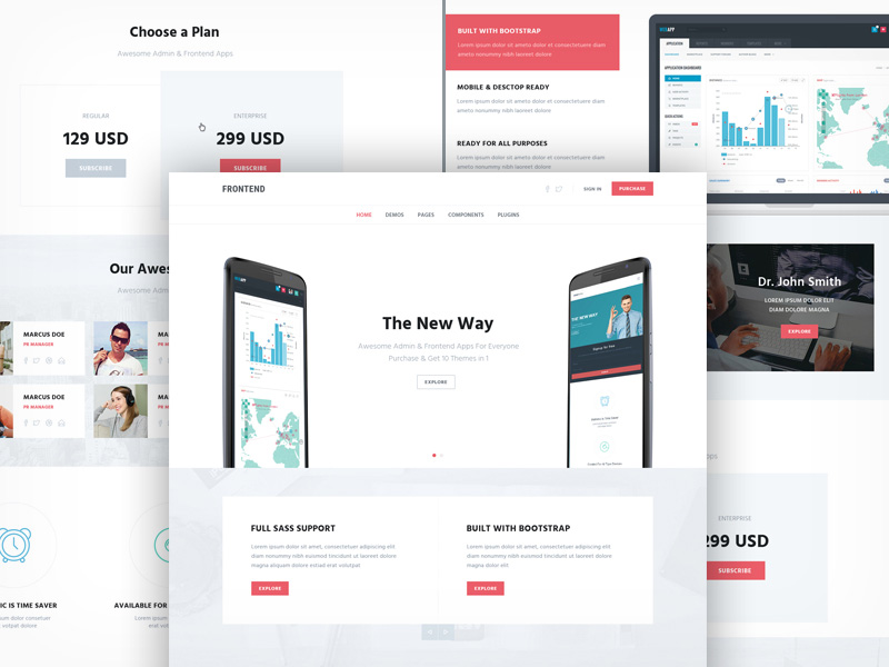 Multipurpose One Page Template