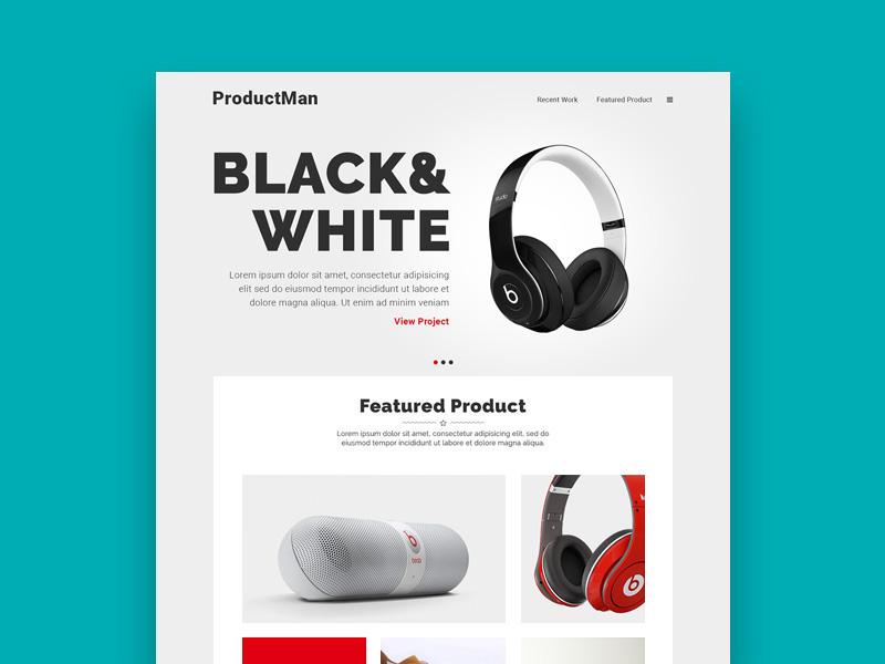 Productman Homepage Design