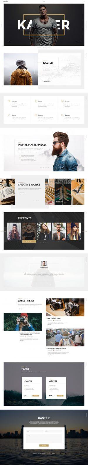 Kaster — Multipurpose Agency/Personal Portfolio & Modern Blog
