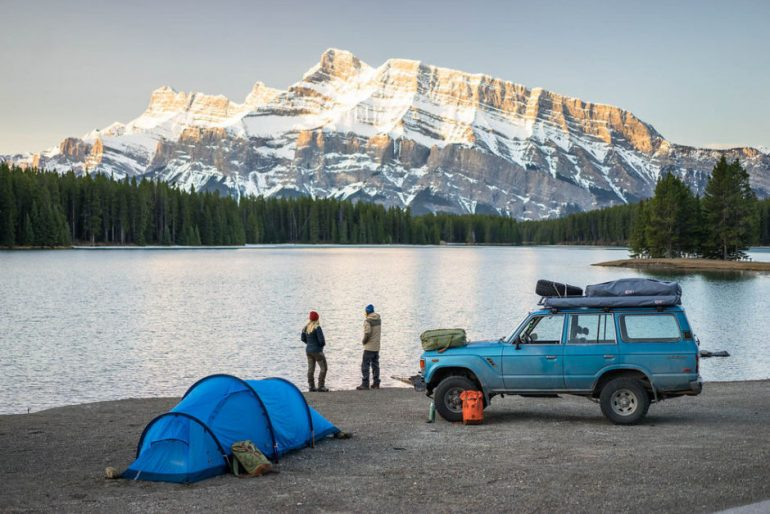 Vintage Land Cruiser + Swedish Ski Bunnies + Canadian Rockies = Incredible Trip