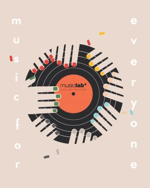 "Advertising Illustrations for the record store ""Music Lab"""