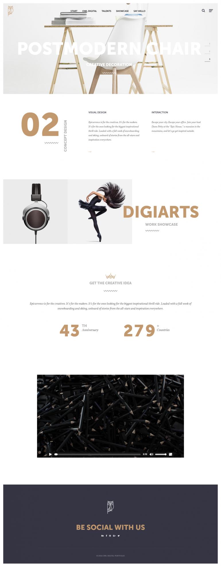 Owl Digital – Creative Agency Template