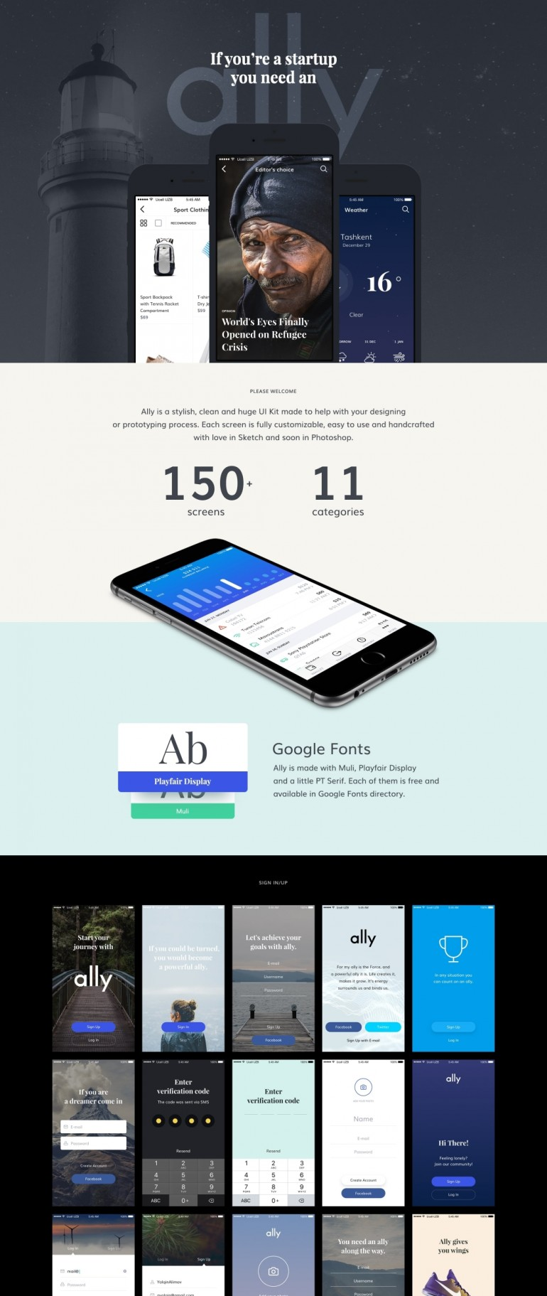 Ally – Mobile UI Kit