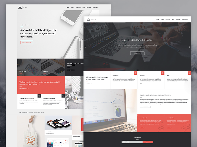 A powerful HTML5 website template, designed for corporates, creative agencies and freelancers. B ...