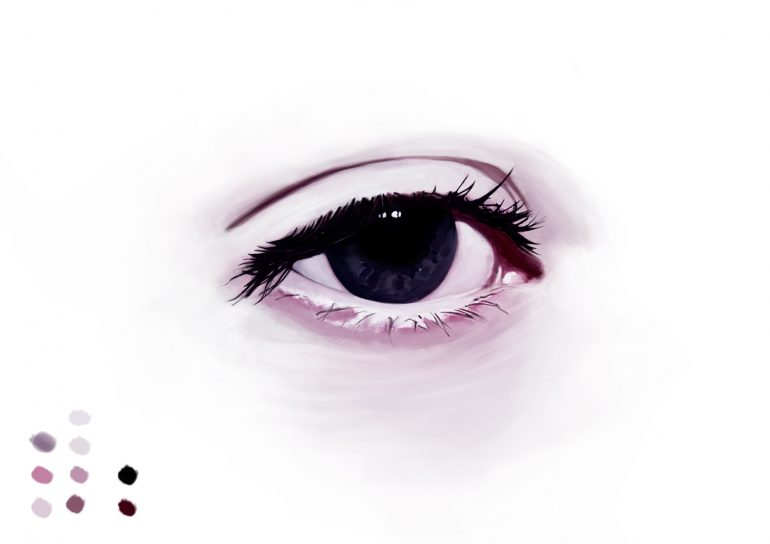 Digital Eye Sketch by DEMORIE