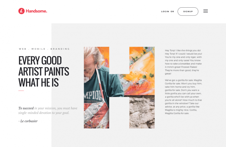 Website Header by Hemant Gupta
